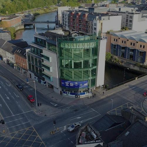 A colour image of the external facade of Boyne Tower - Westhill Investments