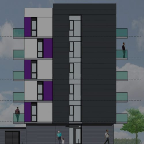 A colour image of the Brickdale House Stevenage 2 office to residential property development of Westhill
